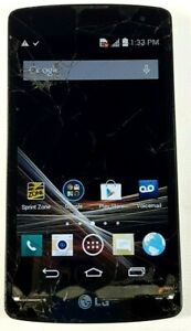 LG Tribute L660P 4GB Black (Sprint) Cracked Glass Good IMEI