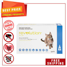 Revolution flea heartworm treatment for Cats 2.6 to 7.5 Kg Blue Pack 3 Pipettes