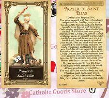 Saint Elias with Prayer of St Elias - Paperstock Holy Card