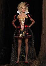 Deluxe Womens Wonderland Queen Halloween Costume Sexy Queen of hearts Small
