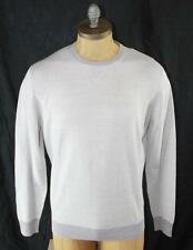 AUTH $545 Ermenegildo Zegna Men Linen Cotton Crew Neck Sweater 52/L