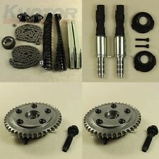 Timing Chain Kit Cam Phasers VVT Valves Fit Ford F-250 F-150 With Screw & Seal
