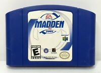 Nintendo 64 N64 Madden NFL 2001 Video Game Cartridge *Authentic/Cleaned/Tested*