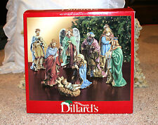EXQUISITE! SET OF 8 PORCELAIN HOLY NATIVITY CHRISTMAS COLLECTIBLE FIGURINES
