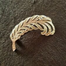 Beautiful, Vintage Marcasite Feather Like Brooch