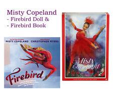 Misty Copeland Ballerina Barbie Doll & Firebird Book Hard Cover DOLL LOT!