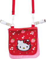 JAPAN SANRIO Hello Kitty Cat Red Strawberry Shoulder Purse Pouch Bag w/Strape