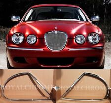 Premium 2x HEAD LAMP REARLIGHT Surround ROYAL CHROME for JAGUAR S-Type 98-03