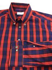 Eton Men's Button Front Cotton Long Sleeve Dress Shirt (42) 16.5 Multicolor (3h)