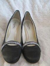 Benjamin Adams black size 7 40 Blondelle shoes crystal embellished prom party