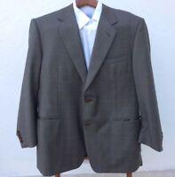 Canali Super 120s Mens Luxury Suit Coat Jacket Blazer Sz.56/46 R US Brown Italy
