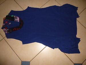 kleid  tunika lagenlook gr.46 48 GLAMZ stretch NEU blau