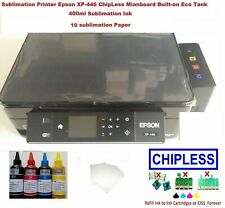 Sublimation Epson Xp-440 446 ChipLess Printer with ink tank