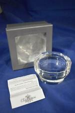 Oleg Cassini Crystal Pillar Candle Holder New Boxed