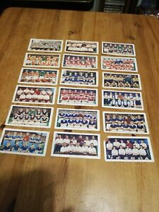18 x 1950s Soccer Bubble Gum Football team picture cards