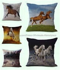 set of 5 throw pillows sofa equine equestrian cushion cover horse animal