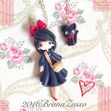 Collana Kiki e Jiji ~ Cute Kiki's Delivery Service Ghibli Miyazaki Necklace Fimo