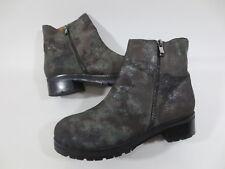 Pol-ite Stiefel Stiefelette Boots 38 Leder Echtleder military camouflage TOP /6