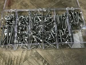 8 & 10 flanged finish washer chrome interior screw assortment Fits Dodge 175 pcs