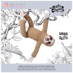 Knitty Critters Crochet Craft Kit - SAMMI SLOTH
