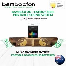 BambooFon - Energy Free Portable Sound System - Yin & Yang (Travel Bag Included)