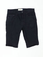 Next Mens Black Denim Shorts Size W32/L12