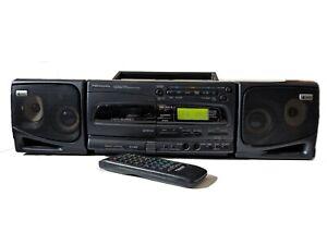 Panasonic RX-E300 Portable Boombox Stereo CD Cassette Player+Remote Radio faulty