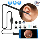 HD LED Ear Endoscope Otoscope Camera Cleaning Wax Pick Cleaner Removal Tool Kits
