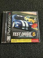 TEST DRIVE 5 - PLAYSTATION - WITH MANUAL - FREE S/H - (UU)