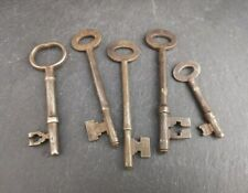 More details for antique victorian steel keys, 19th century