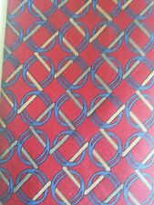 A.N.D. Legge Chains 100% Silk Neck Tie Made in Italy Red Classic 57 in.- 60 in.