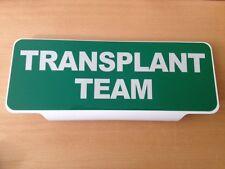 Equipo de trasplante texto Reflectante Univisor signo Sun Visor respuesta seguro
