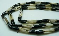 BUFFALO BEADS Carved Bone 2 Tone 1.5 inch hair pipe 11