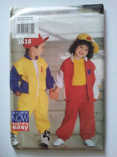 Uncut Sewing Pattern, Butterick See & Sew #3618,Childs Jacket & Pants,All Sizes