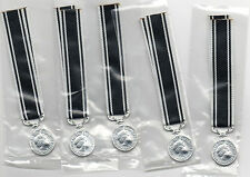 SPECIAL OFFER PRICE : 5 X MINIATURE PRISONS LONG SERVICE MEDALS