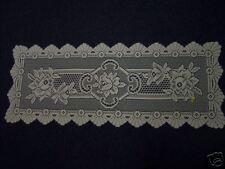 "Lovely quality lace runner 36"" long White"
