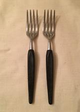 Vintage Branchell Royale Melmac Flatware Charcoal Grey Two (2) Salad Forks HTF