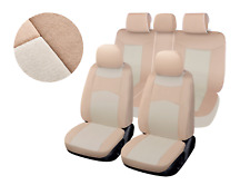 Two-tone Tan Poly Fabric Full Set Car Rear Split Seat Cover for Chevrolet 8660