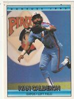 FREE SHIPPING-MINT-1992 Donruss Montreal Expos Baseball Card #48 Ivan Calderon