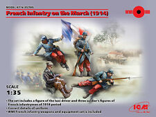 ICM 1/35 French Infantry on the March (1914) # 35705