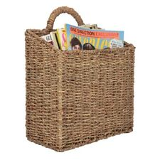 NEW MyGift Woven Hanging Wall Mounted Basket Rustic Home Décor  Large
