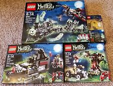 Lego Monster Fighters 9467 Ghost Train 9464 Vampyre Hearse 9463 Werewolf + Extra