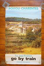 1975 SNCF French National Railways Original Railway Poster Poitou Charentes
