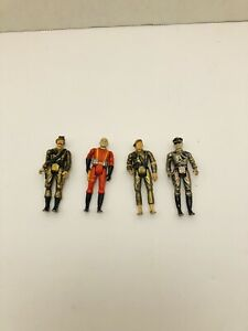 Lot Of 4 Mego Eagle Force Figures  Vintage 1980s Die Cast Metal
