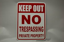 KEEP OUT private Property NO TRESPASSING aluminum safety yard sign weather proof
