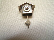 New listing Vintage Sterling Silver Charm Wall Clock W/ Moveable Pendulum