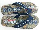 Mens Mossy Oak Camouflage Flip Flop Size XL (13/14) comfort straps foam NWT NL10