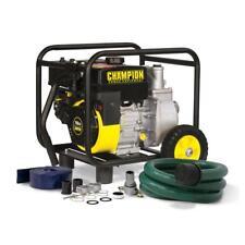 Pump Hose Wheel Gas Powered Semi Trash Water Transfer Power Equipment *NEW*