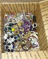 Vintage - Now Jewelry Craft Junk Box Lot SM Flat Rate FULL Wear Harvest POUNDS