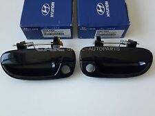 Hyundai 00-06 Accent Front Left Right Smooth Black 82650-25000 82660-25000=1SET